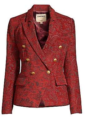 9702bc598f98d L Agence Women s Kenzie Double-Breasted Jacquard Blazer