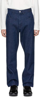 Raf Simons Navy Low Crotch Jeans