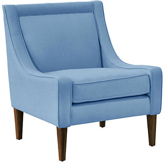 One Kings Lane Scarlett Accent Chair - French Blue Linen