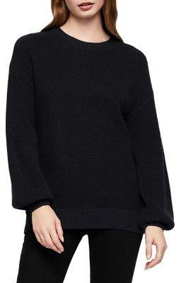 BCBGeneration Ribbed Cotton Pullover