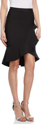 Wow Couture Ruffle Trim Bandage Skirt