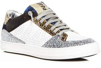 P448 Women's Queens Mixed Media Lace Up Sneakers