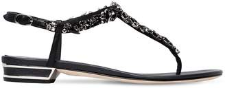 Rene Caovilla 20mm Swarovski Leather Sandals