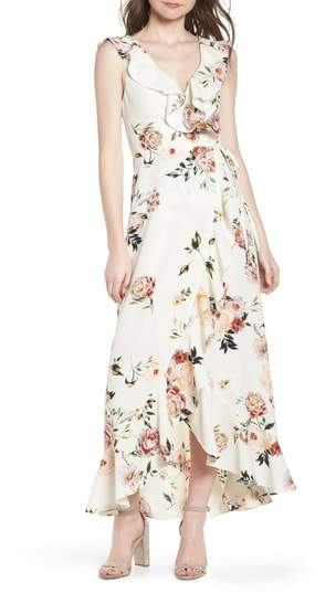 Leith Ruffle Wrap Maxi Dress