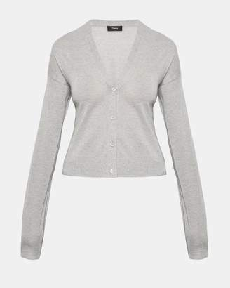 Theory Cashmere Cropped Cardigan