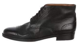 Salvatore Ferragamo Leather Brogue Boots