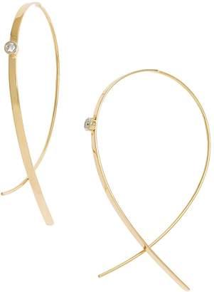 Lana 'Small Upside Down' Diamond Hoop Earrings
