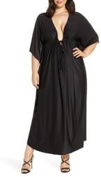 Coldesina Tie Front Caftan Maxi Dress