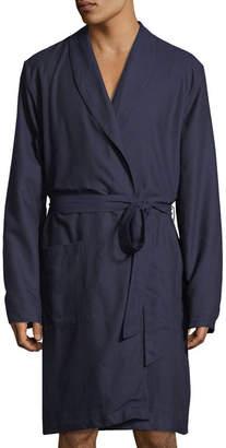 Hanro Select Cotton Shawl-Collar Robe