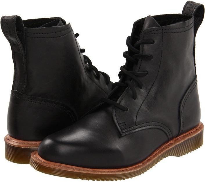 Dr. Martens - Tadita 6-Tie Boot (Black) - Footwear