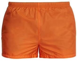 Prada Nylon Swim Shorts - Mens - Orange