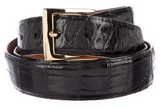 W.KLEINBERG W. Kleinberg Alligator Leather Belt