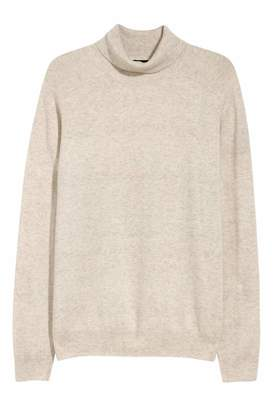 H&M Wool-blend Turtleneck Sweater - Light beige - Men