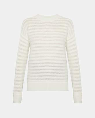 Theory Cashmere Novelty Striped Pullover