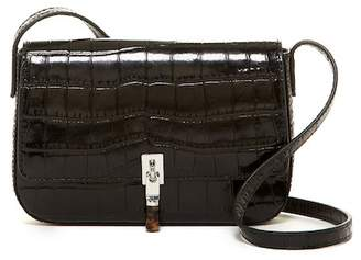 Elizabeth and James Cynnie Flap Croc Embossed Leather Crossbody