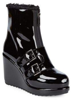 Marc Jacobs Hope Patent Leather Wedge Booties