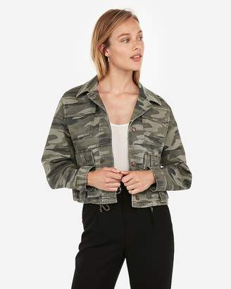 Express Camo Cropped Military Jacket