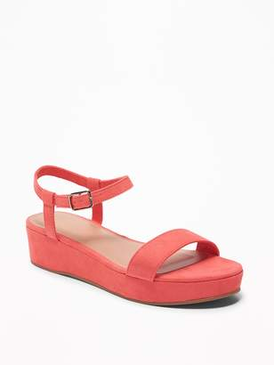 Old Navy Faux-Suede Ankle-Strap Platform Sandals for Women