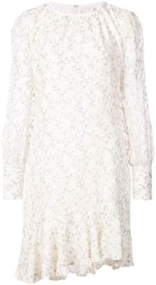 Derek Lam 10 Crosby Long Sleeve Asymmetrical Ruffle Hem Dress