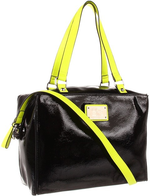 Kenneth Cole Reaction K-ST Tote (Black/Yellow) - Bags and Luggage