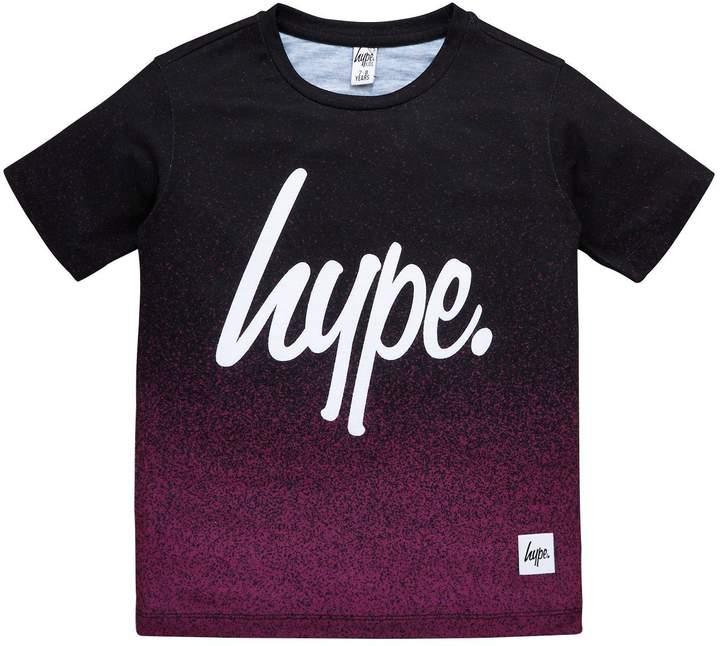 Boys Short Sleeved Mulberry Speckle Fade T-Shirt
