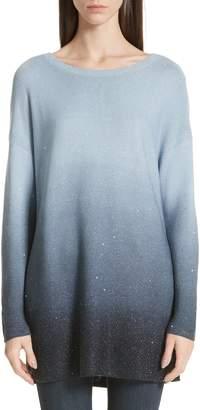 Lafayette 148 New York Sequin Ombre Silk Blend Tunic