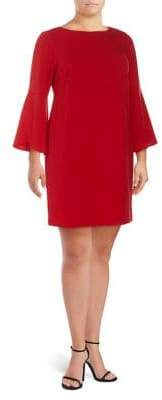 Eliza J Plus Tulip-Sleeve Sheath Dress