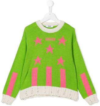 MSGM jacquard knitted sweater
