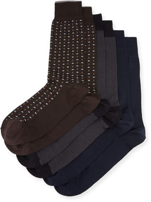 Neiman Marcus Three-Pair Wardrobe Socks