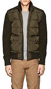 Ralph Lauren Purple Label MEN'S SHEARLING & WOOL PUFFER JACKET-OLIVE SIZE L