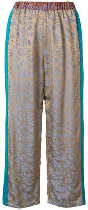 Forte Forte jacquard cropped trousers