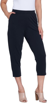 Halston H By H by Regular Brushed Modal Pull-On Cropped Pants