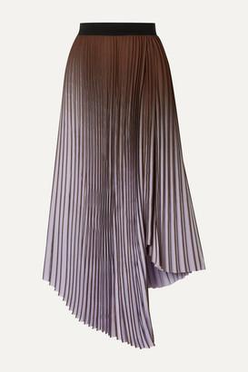By Malene Birger Piza Dégradé Plissé Crepe De Chine Midi Skirt - Lavender