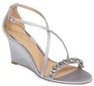 Badgley Mischka Embellished Strappy Wedge Sandal (Women)