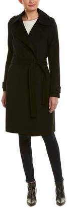 Badgley Mischka Double Face Wool-Blend Coat