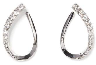 Vince Camuto Graduated Stone Hoop Earrings