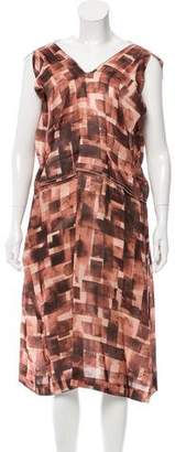 Marni Printed Silk & Blend Dress w/ Tags