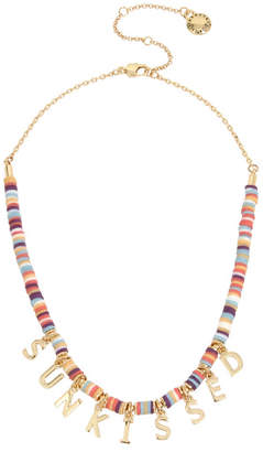 """BCBGeneration SUNKISSED"""" Affirmation Charm Frontal Necklace"""
