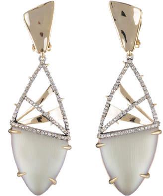 Alexis Bittar Crystal Encrusted Plaid Clip Earring