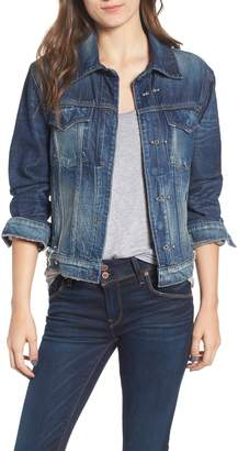Hudson Jeans Pierced Denim Jacket