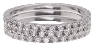 Swarovski ADORNIA Sterling Silver Crystal Eternity Band - Set of 3