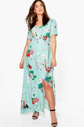 boohoo Plus Floral Print Maxi Dress
