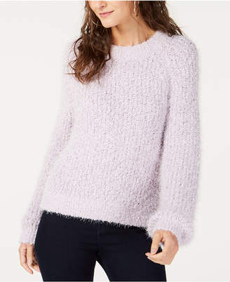 INC International Concepts I.n.c. Eyelash-Texture Sweater