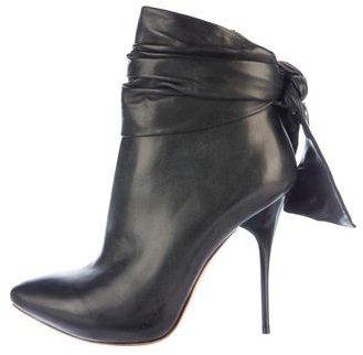 Alexander McQueenAlexander McQueen Leather Bow Booties w/ Tags
