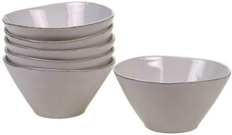 Certified International Harmony Solid Color - Cream 6-Pc. Ice Cream Bowl