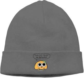 aa9d656cd58 QPSV Hip-hop Cap Taco Never Defeated Unisex Pattern Beanie Knit Cap.