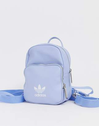 adidas mini backpack in pale blue