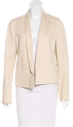 Vince Linen-Blend Long Sleeve Blazer