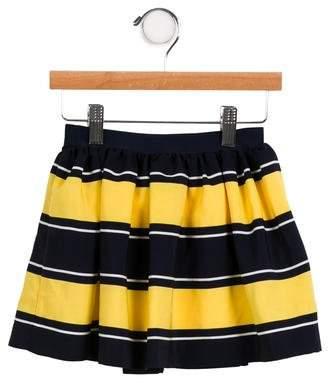 Ralph Lauren Girls' Striped Flounce Skirt