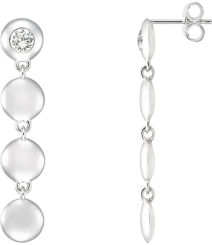 Ice.com 9/10 Carat CZ Sterling Silver Earrings